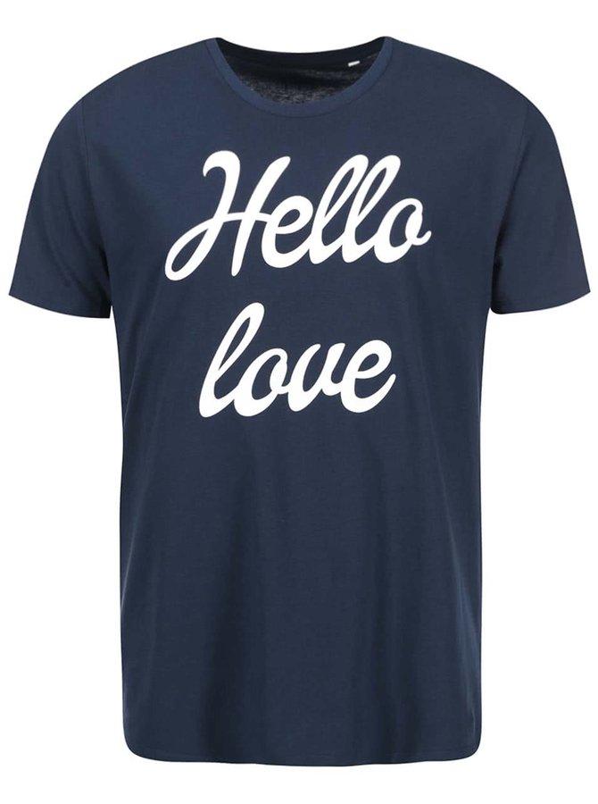 Modré pánske tričko ZOOT Originál Hello Love