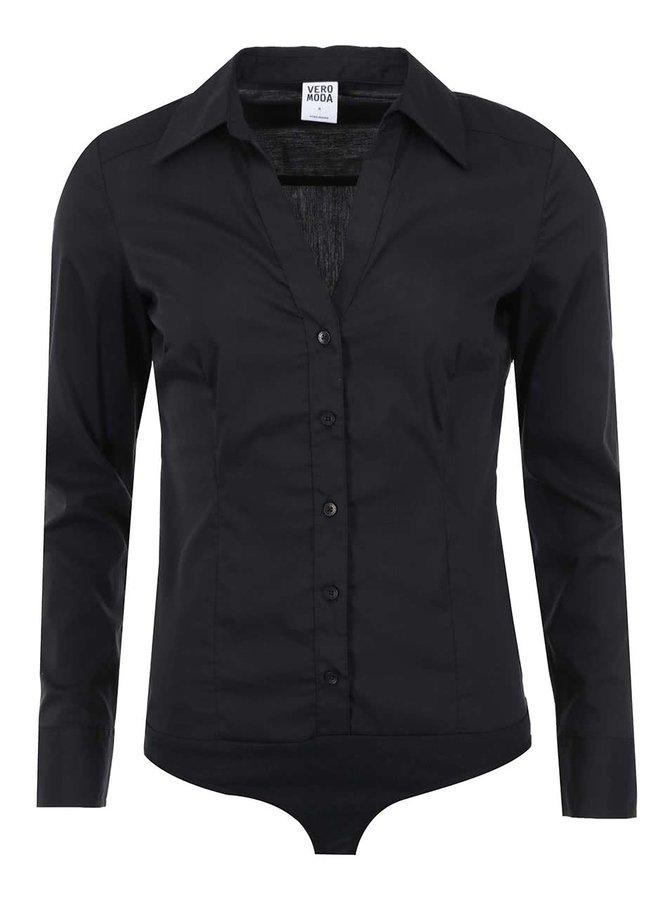 Čierna body košeľa Vero Moda Cousin