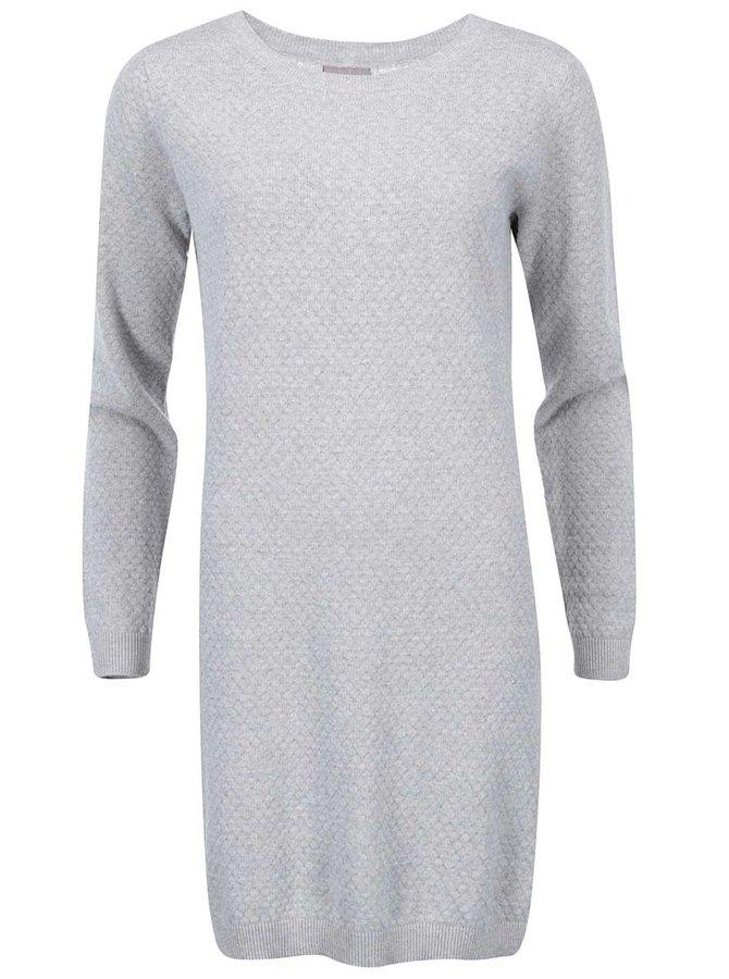 Světle šedé svetrové šaty VERO MODA Care