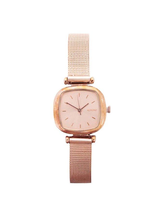 Dámske hodinky vo farbe ružového zlata Komono Moneypenny Royale