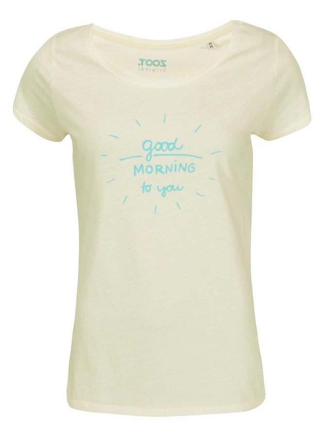 Tricou ZOOT Original Good Morning alb de damă