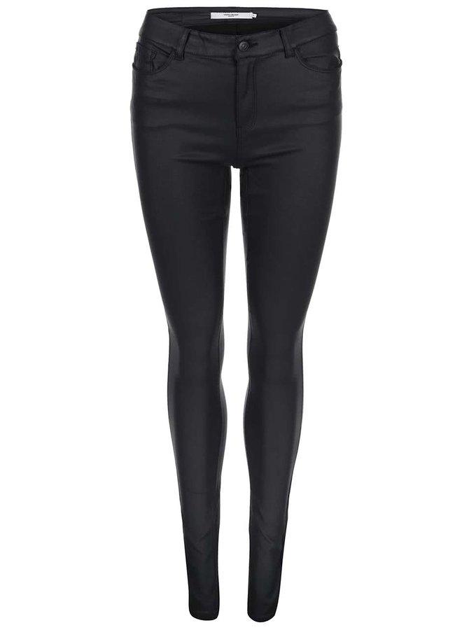 Čierne slim fit nohavice Vero Moda Seven