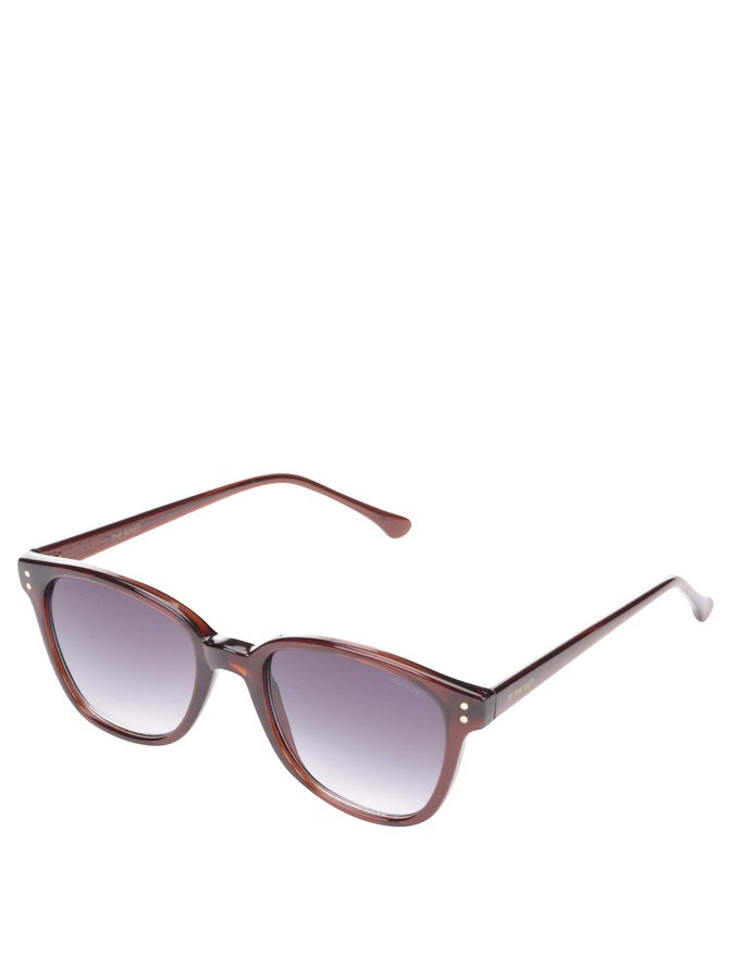 Hnědé unisex sluneční brýle Komono Renee