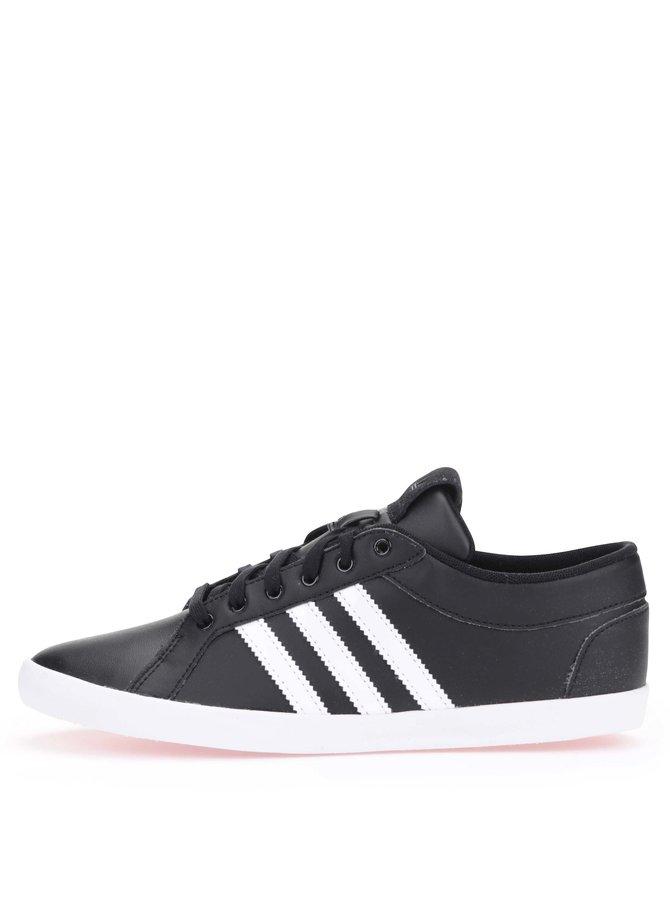 Pantofi sport de damă, din piele neagră, adidas Originals
