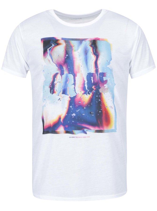 Biele pánske tričko Grape Liquid Love