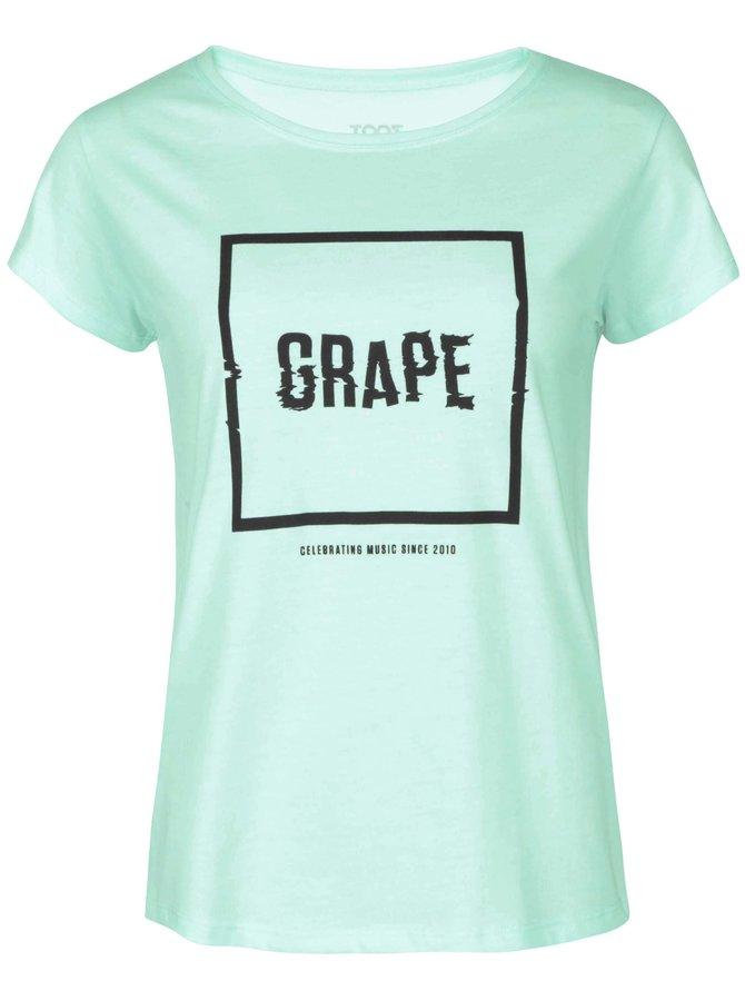 Mentolové dámske tričko Grape Logo Square