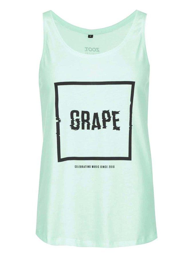 Mentolové dámské tílko Grape Logo Square