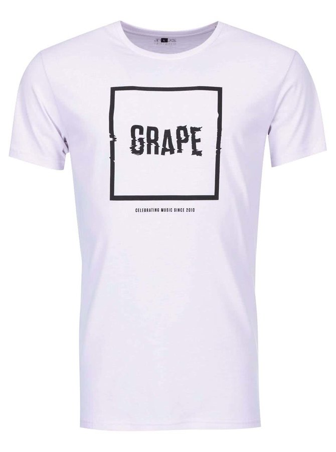 Fialové pánske tričko Grape Logo Square