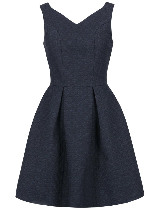 Rochie bleumarin cu textură triunghiulară Closet Dark Blue