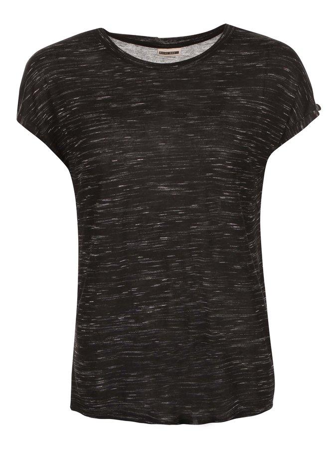 Černé žíhané tričko Noisy May Jimmy