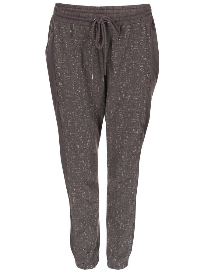 Pantaloni de trening Sparkle Vero Moda imprimat - gri închis