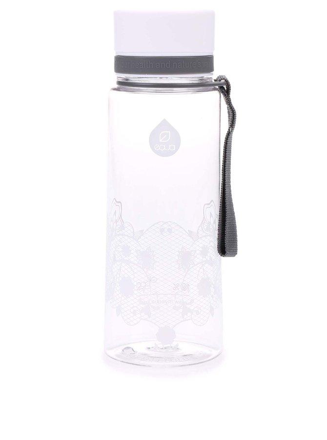 Plastová fľaša s kvetovaným vzorom EQUA (600 ml)