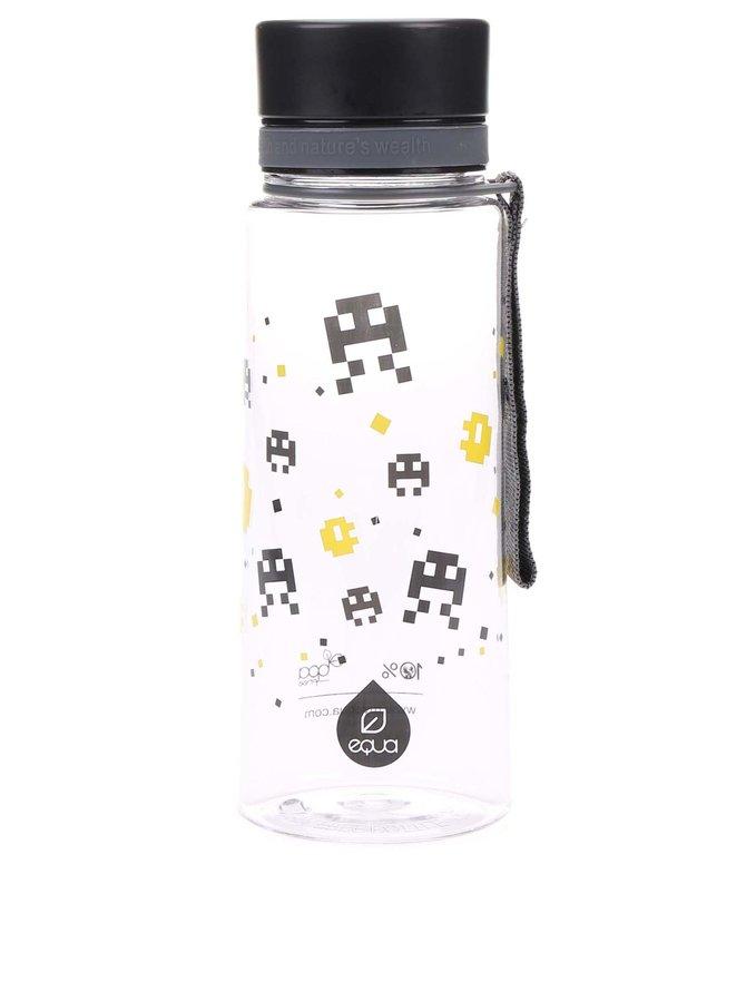 Plastová fľaša so žltým pixelovým vzorom EQUA (600 ml)