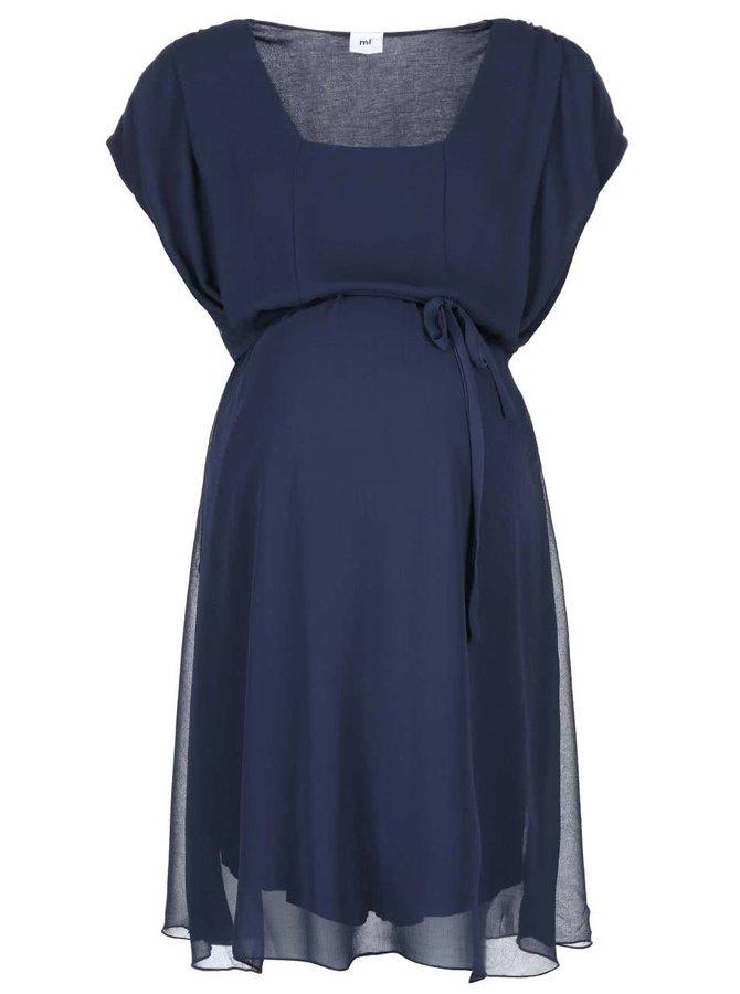 Tmavě modré těhotenské šaty Mama.licious Ines Mary