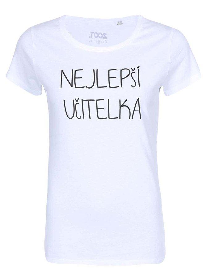 Biele dámske tričko ZOOT Originál Nejlepší učitelka