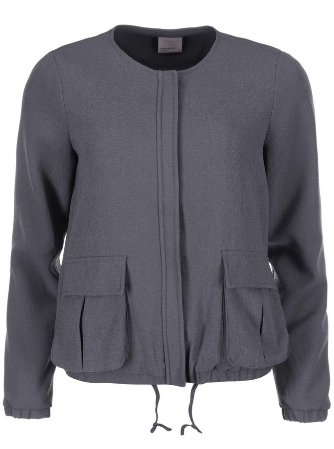 Jachetă subțire gri închis VERO MODA Ebru