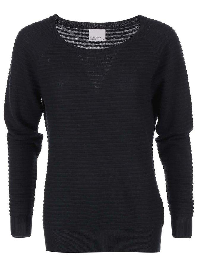 Černý vroubkovaný svetr Vero Moda Forever