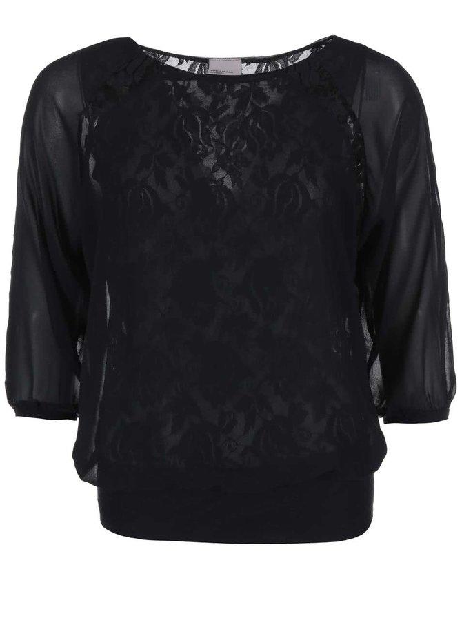 Bluză Alica, de la VERO MODA, din dantelă, neagră