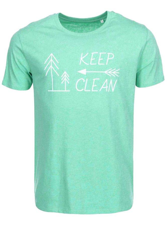 """""""Dobré"""" zelené pánske tričko KEEPItCLEAN"""