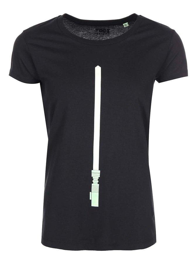 Černé dámské svítící tričko ZOOT Originál Světelný meč