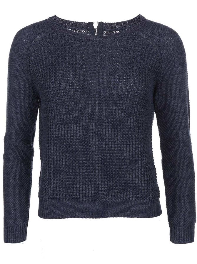 Pulover bleumarin tricotat ONLY Ginalu