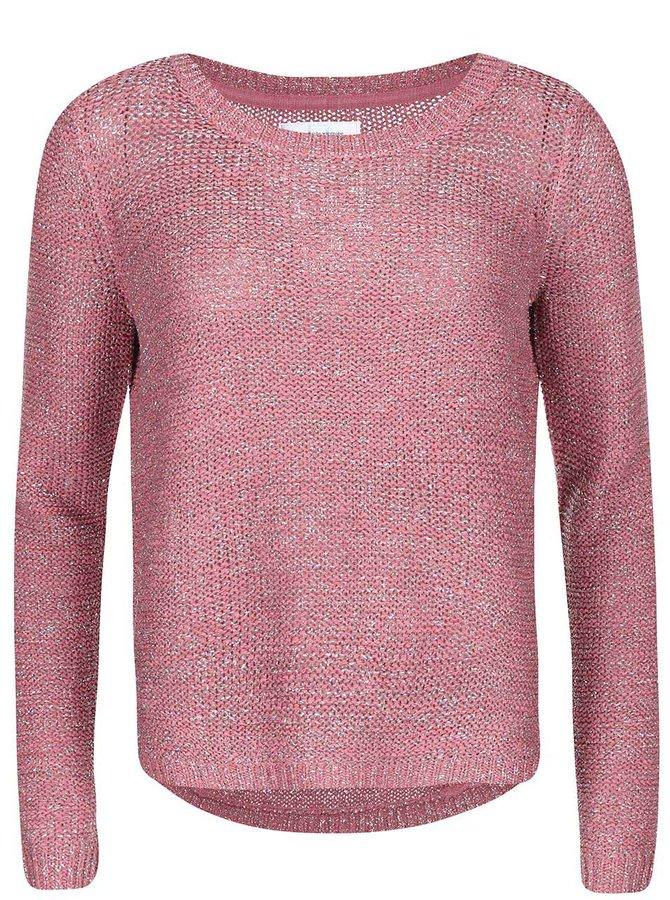 Pulover Geeny, de la ONLY, cu cusături strălucitoare - roz
