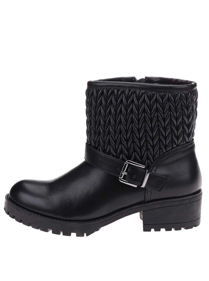 Čierne členkové topánky Pieces Vania