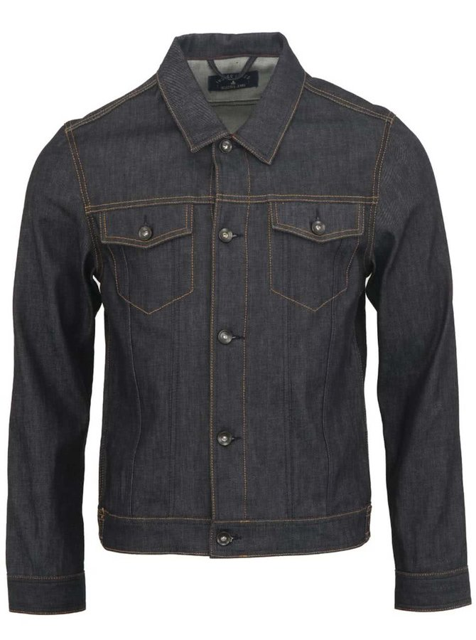 Jachetă bărbătească din denim bleumarin Selected Homme