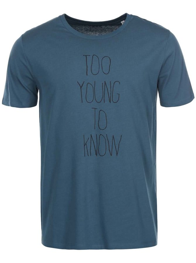 Tmavozelené pánske tričko ZOOT Originál Too Young To Know