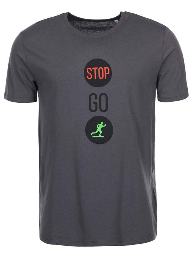 Sivé pánske tričko ZOOT Originál Stop Go