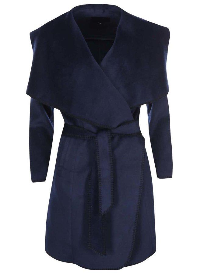 Palton cu rever lat Lavand - bleumarin