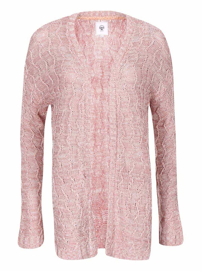 Cardigan de damă lejer roz Lydney Bellfield