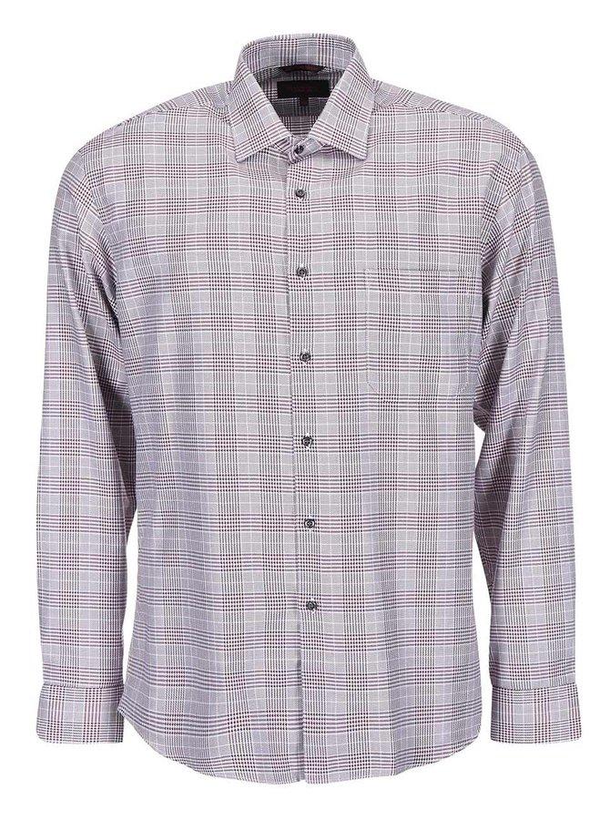 Vínová košeľa so vzorom glenček Seven Seas Avenger