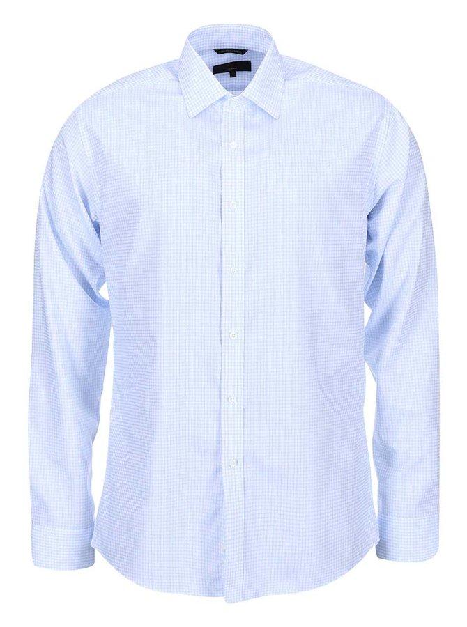 Bielo-modrá kockovaná slim fit košeľa Seven Seas Castaway