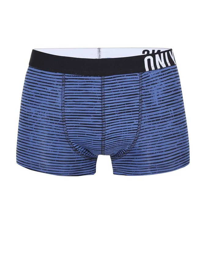 Černo-modré pruhované boxerky ONLY & SONS Sid