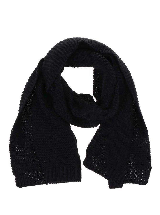 Eșarfă Rifka neagră tricotată de la Pieces