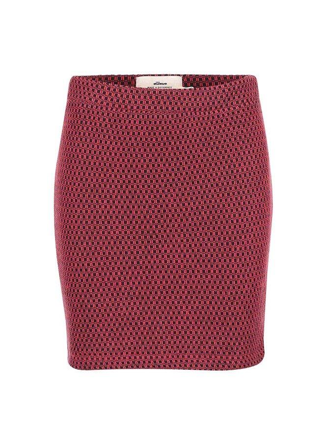 Fustă roșie cu imprimeu Lana SKUNKFUNK