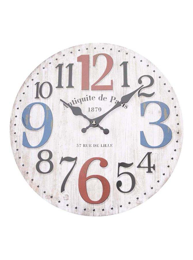 Ceas de perete Dakls Antique de Paris bej, din lemn