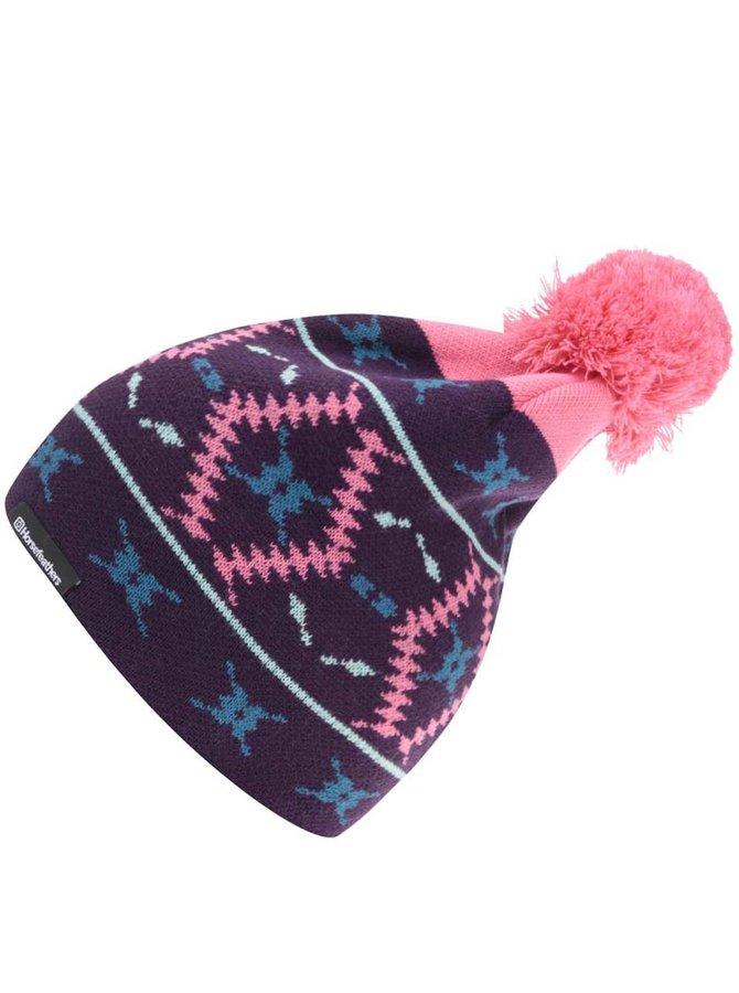 Fialová dámska čapica so vzorom Horsefeathers Marge
