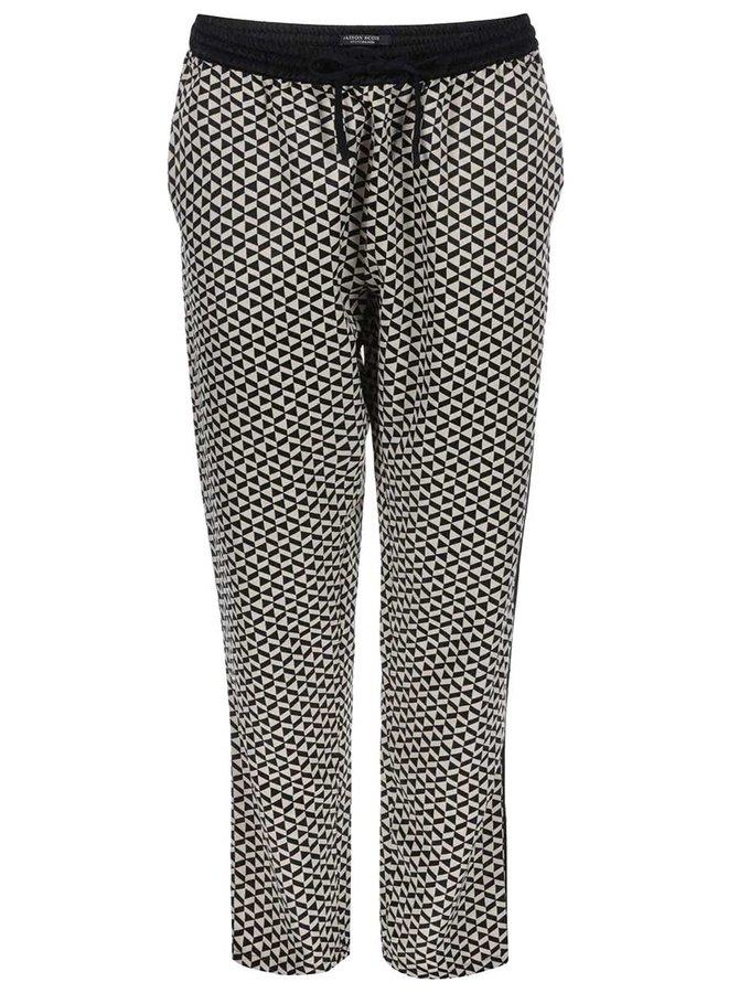 Černo-krémové vzorované kalhoty Maison Scotch