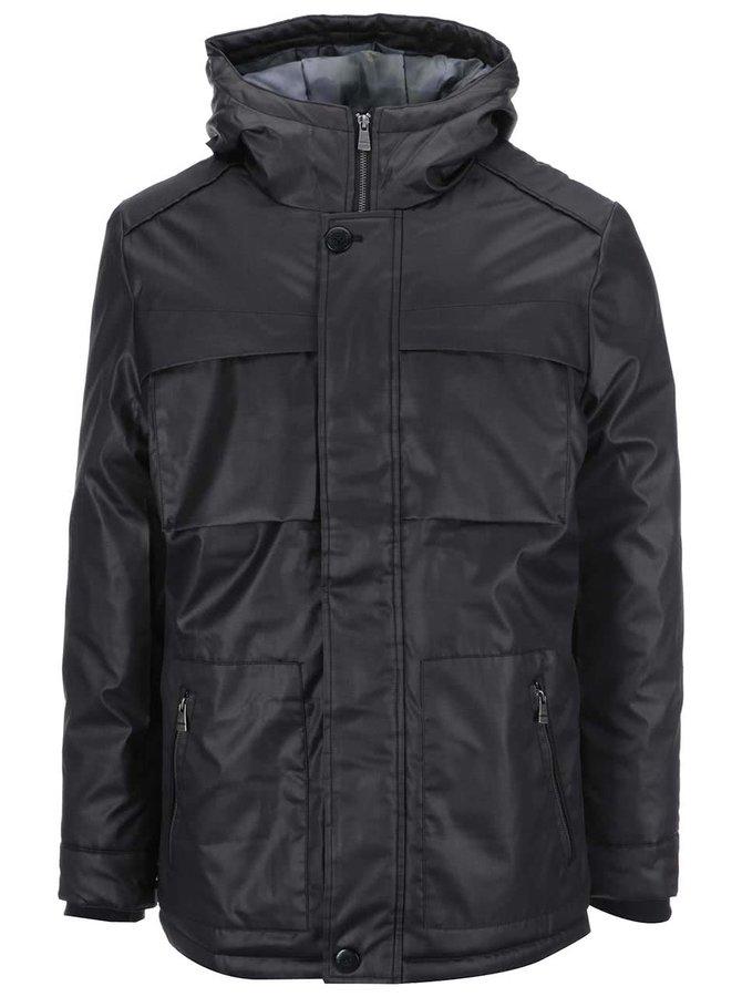 Černá bunda s kapucí ONLY & SONS Thomas