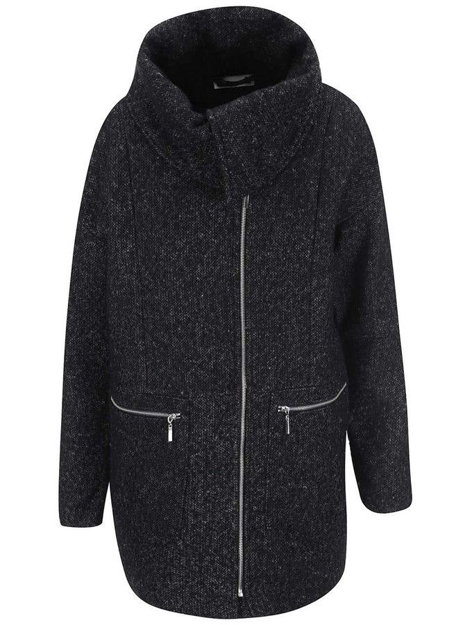 Tmavosivý kabát Noisy May Round