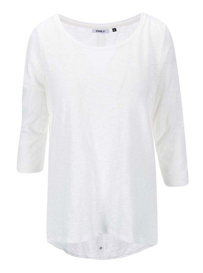 Tricou alb ONLY Casa cu inele decorative