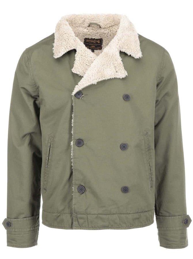 Jachetă kaki cu blană Jack & Jones Frame