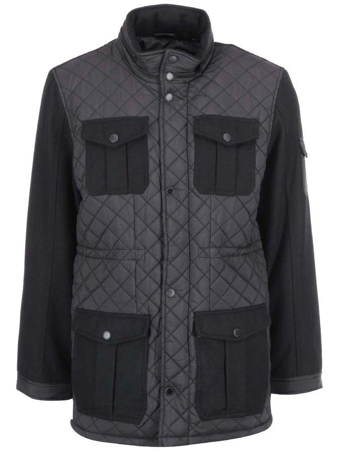 Jachetă neagră lungă de la Lindbergh
