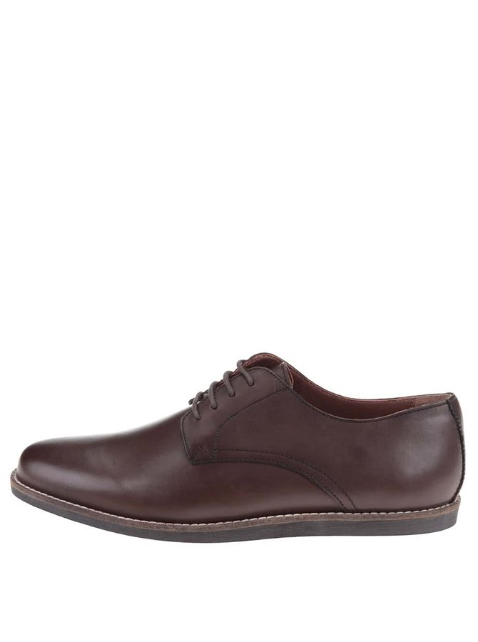 Hnedé kožené topánky Frank Wright Trinder