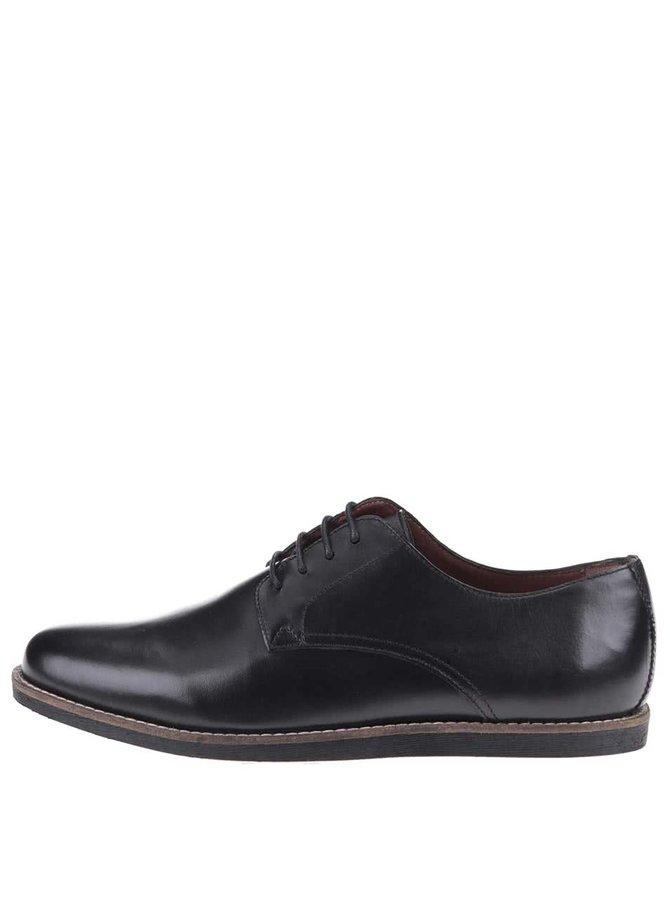 Čierne kožené topánky Frank Wright Trinder