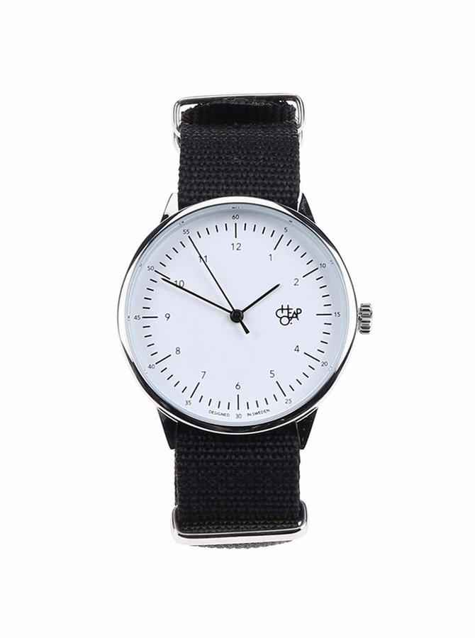Čierne unisex hodinky Cheapo Harold Black