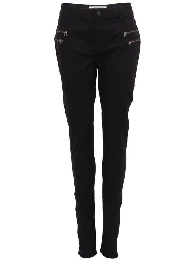 Černé kalhoty s dvojitými zipy Noisy May Fame