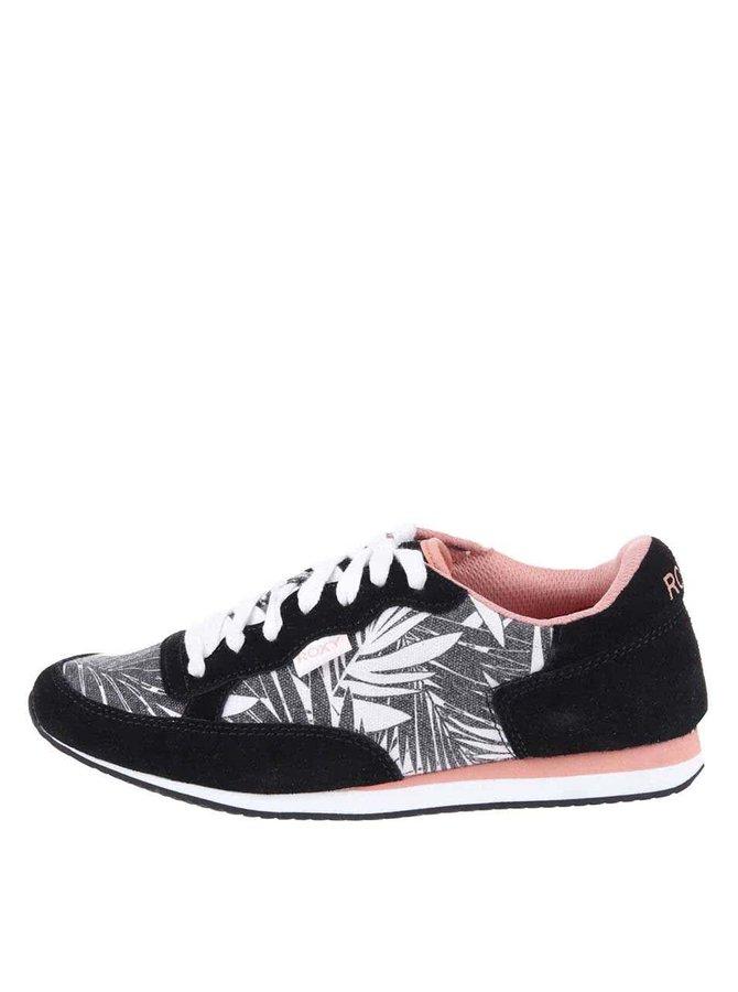 Pantofi sport Run II gri-negru cu model de la Roxy